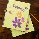 Flower Power Personalized Large Notebooks-Set of 2 - 11832