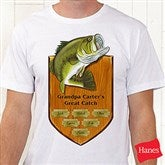 Fisherman's Plaque Personalized Hanes® Adult T-Shirt - 11867AT