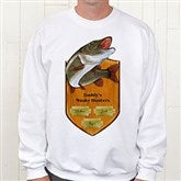 Fisherman's Plaque Personalized White Adult Sweatshirt - 11867S