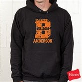 Go Team© Personalized Sweatshirt- Black Adult - 11898-BA
