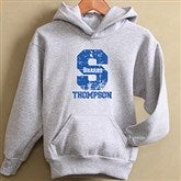 Go Team© Personalized Sweatshirt- Grey Youth - 11898-G