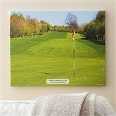 Perfect Day Personalized Photo Golf Canvas - 16