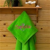 All About Me Beach Towel - Lime Green - 11931-G