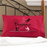 Skater Personalized Red Pillowcase - 11935