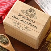 Bon Appetit Personalized Bamboo Recipe Box - 11948-S
