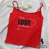 Elvis Love Me Tender™ Ladies Personalized Red Camisole - 11950-C
