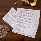 Bon Appetit Recipe Personalized Recipe Cards - 4x6 - 11951-A