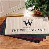 Elegant Monogram Oversized Personalized Doormat - 11954-O