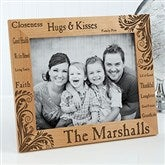 Family Pride Personalized Photo Frame- 8 x 10 - 11961-L
