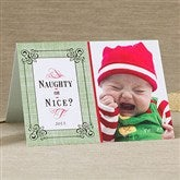 Naughty or Nice Personalized Photo Christmas Card- 1 Photo - 11964-1