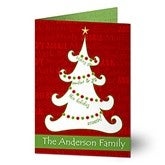 Christmas Tree Personalized Christmas Cards - 11968
