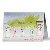 Snow Family Personalized Christmas Cards - 11984
