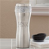 Glitz and Glam Personalized Stainless Steel Tumbler with Initials - 11988-I