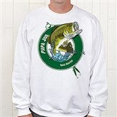 Fisherman Personalized Adult White Sweatshirt - 11989S