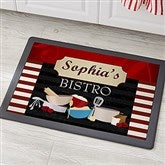 Family Bistro Personalized Recycled Rubber Back Kitchen Mat - 12005-S