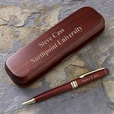 The Graduate Engraved Rosewood Pen Set - 1201