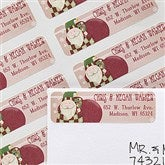 Vintage Santa Return Address Labels - 12021