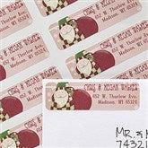 Vintage Santa Return Address Labels - 12021
