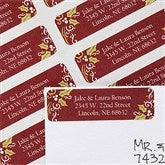 Cheerful Holly Return Address Labels - 12024