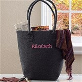 The Charlotte Embroidered Felt Tote Bag--Name - 12031-N
