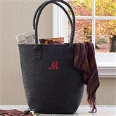 The Charlotte Embroidered Felt Tote Bag--Initial - 12031-I