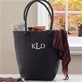 The Charlotte Embroidered Felt Tote Bag--Raised Monogram - 12031-M