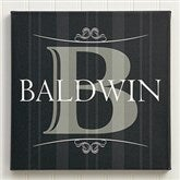Elegant Monogram Personalized Canvas Art - 12033