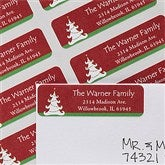Christmas Tree Return Address Labels - 12038