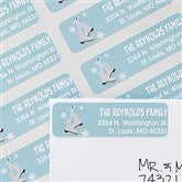 Ice Skating Family Characters Return Address Labels - 12063