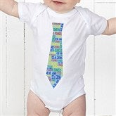 Dressed For Success Birth Info Personalized Baby Bodysuit - 12072-CBB
