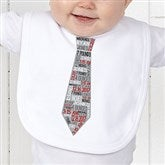 Dressed For Success Birth Info Personalized Bib - 12072-B