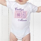 Baby's Big Day Personalized Baby Bodysuit - 12073-BB