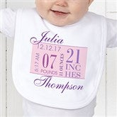 Baby's Big Day Personalized Bib - 12073-B