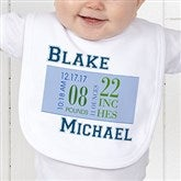 Baby's Big Day Personalized Bib - 12074-B