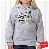 I'd Rather Bee With... Grey Youth Hooded Sweatshirt - 12078-GHS