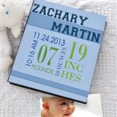 Baby's Big Day Personalized Deluxe Photo Album - 12079-N