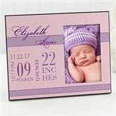 Baby's Big Day Personalized Frame For Girls - 12113-N