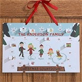 Ice Skating Family Personalized Christmas Countdown Calendar - 12114