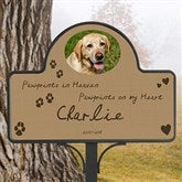 Pawprints In Heaven Custom Photo Memorial Magnetic Garden Sign - 12124-M