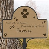 Pawprints In Heaven Custom Memorial Magnetic Garden Sign - 12124-NM