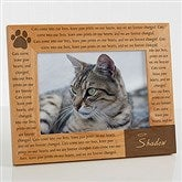 Paw Prints On Our Heart Personalized Photo Frame- 5 x 7 - 12125-M