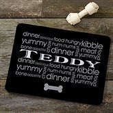 Doggie Delights Personalized Meal Mat - 12127