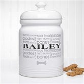 Doggie Delights Personalized Dog Treat Jar - 12128