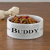 Doggie Delights Personalized Dog Bowl - Large - 12129-L