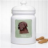 Top Dog Breeds Personalized Dog Treat Jar - 12130