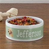 Top Dog Breeds Personalized Pet Bowl - Large - 12132-L