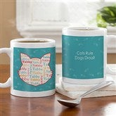 I Love My Cat Personalized Coffee Mug - 12136