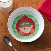 Christmas Character Personalized Melamine Bowl - 12151D-B