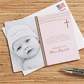 God Bless Baby Personalized Thank You Cards- Photo - 12170-P