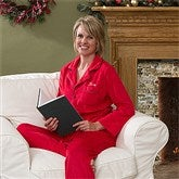 Holiday Cheer Embroidered Adult Pajama Set - 12173-A